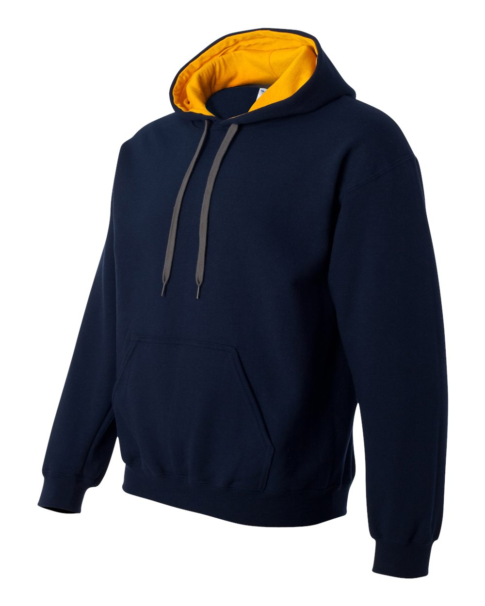 Gildan Heavy Blend Contrasted Hoodie GI185C00 Navy - Gold