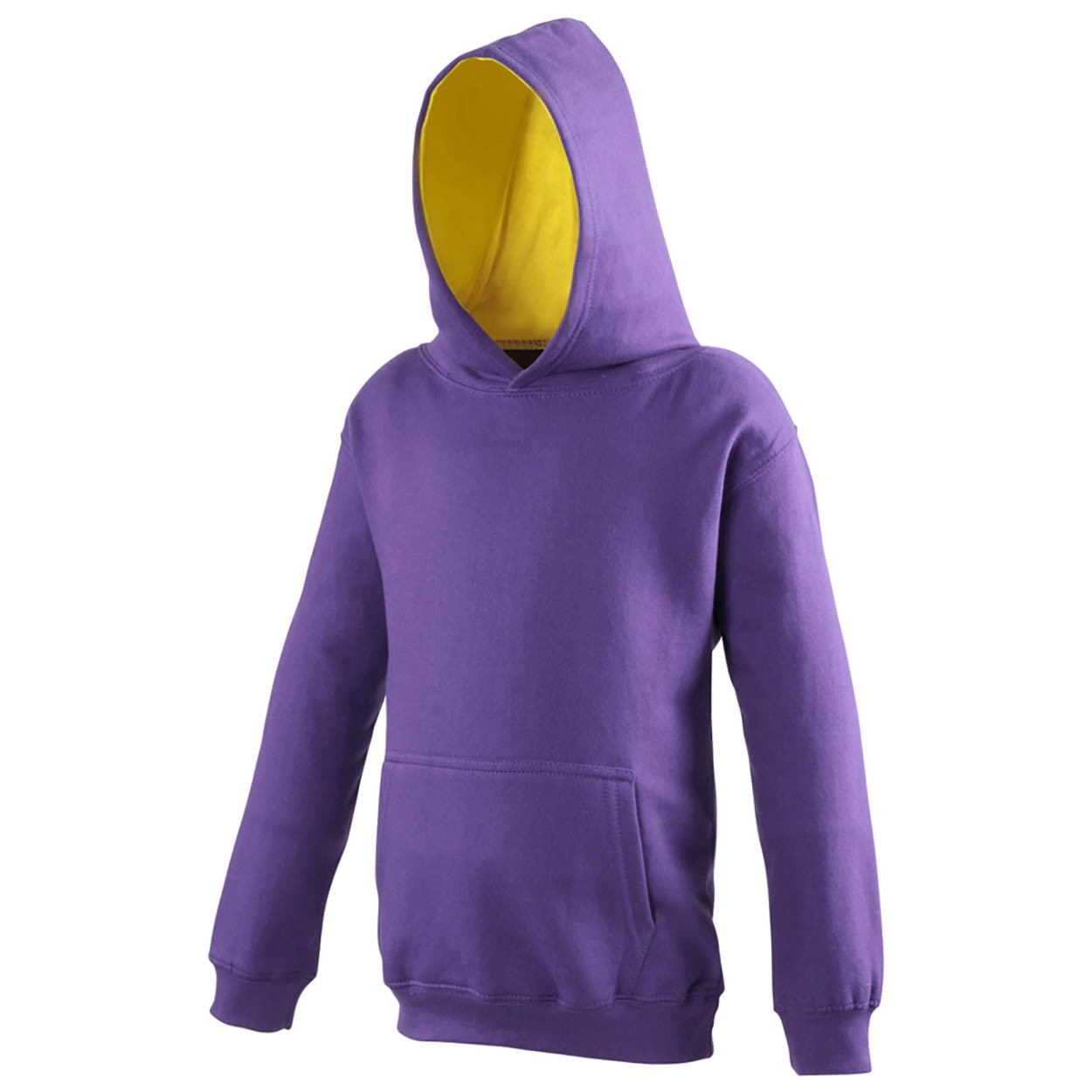 AWDis Kids Varsity Hoodie Kind purple sun yellow