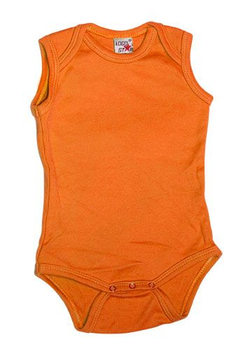 Sleeveless Romper Orange