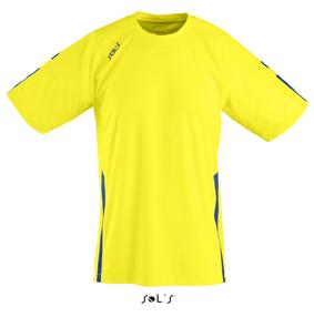 Sols Wembley Sportshirt Lemon - Royal Blue