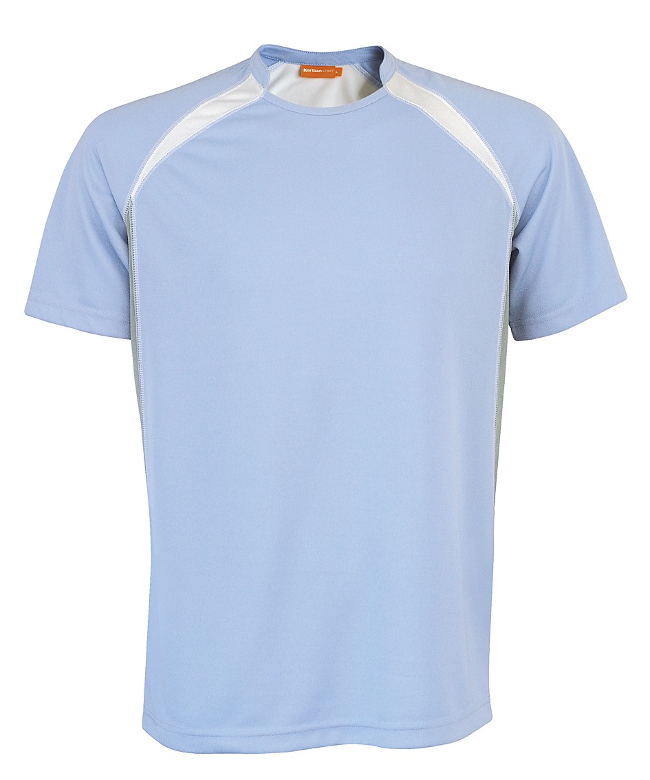 Kariban Sportshirt Breathing KS01 Sky Blue - White