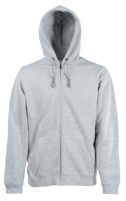 Fruit of the Loom Zip hoodie sweatshirt SC361C Heather Grey