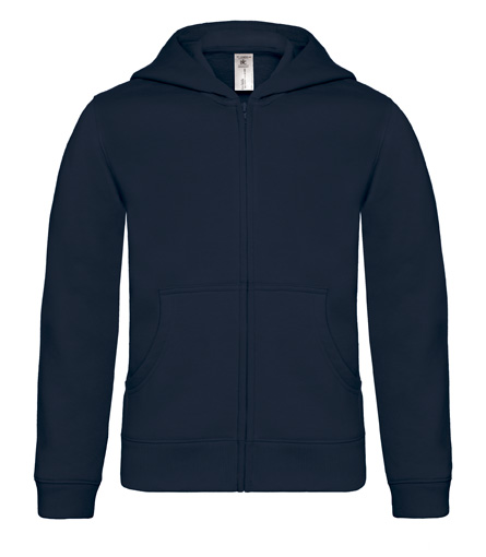 B-C Hooded Full Zip Kids Navy