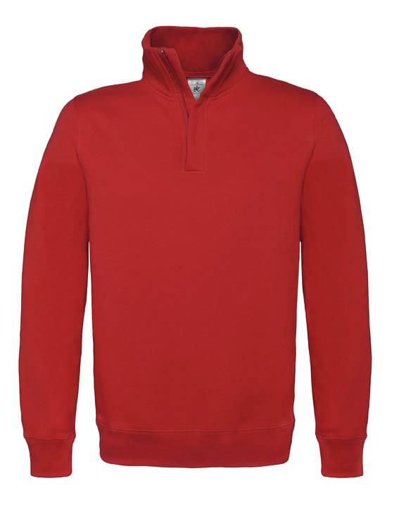 BC Sweater met hoge kraag Rood