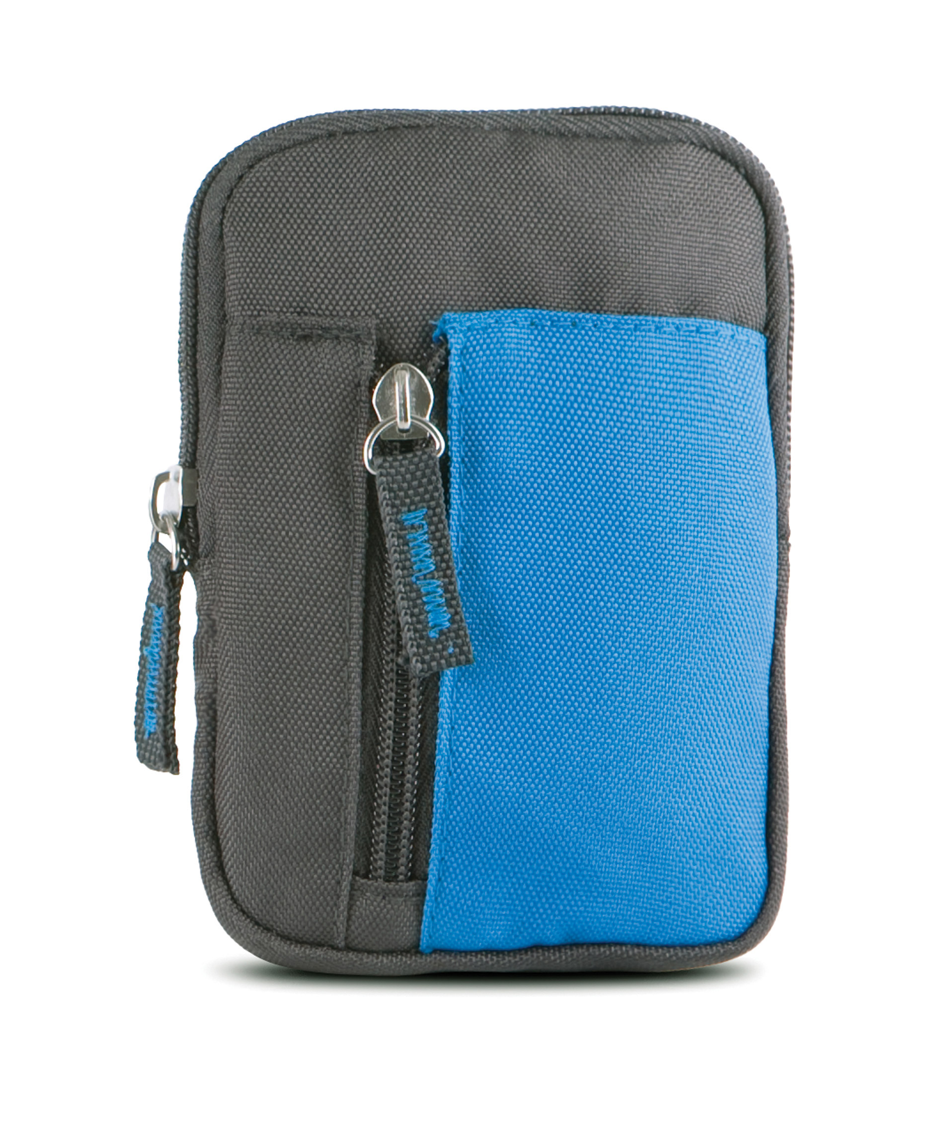 portemonnee ki0502 donkergrijs / aqua blauw