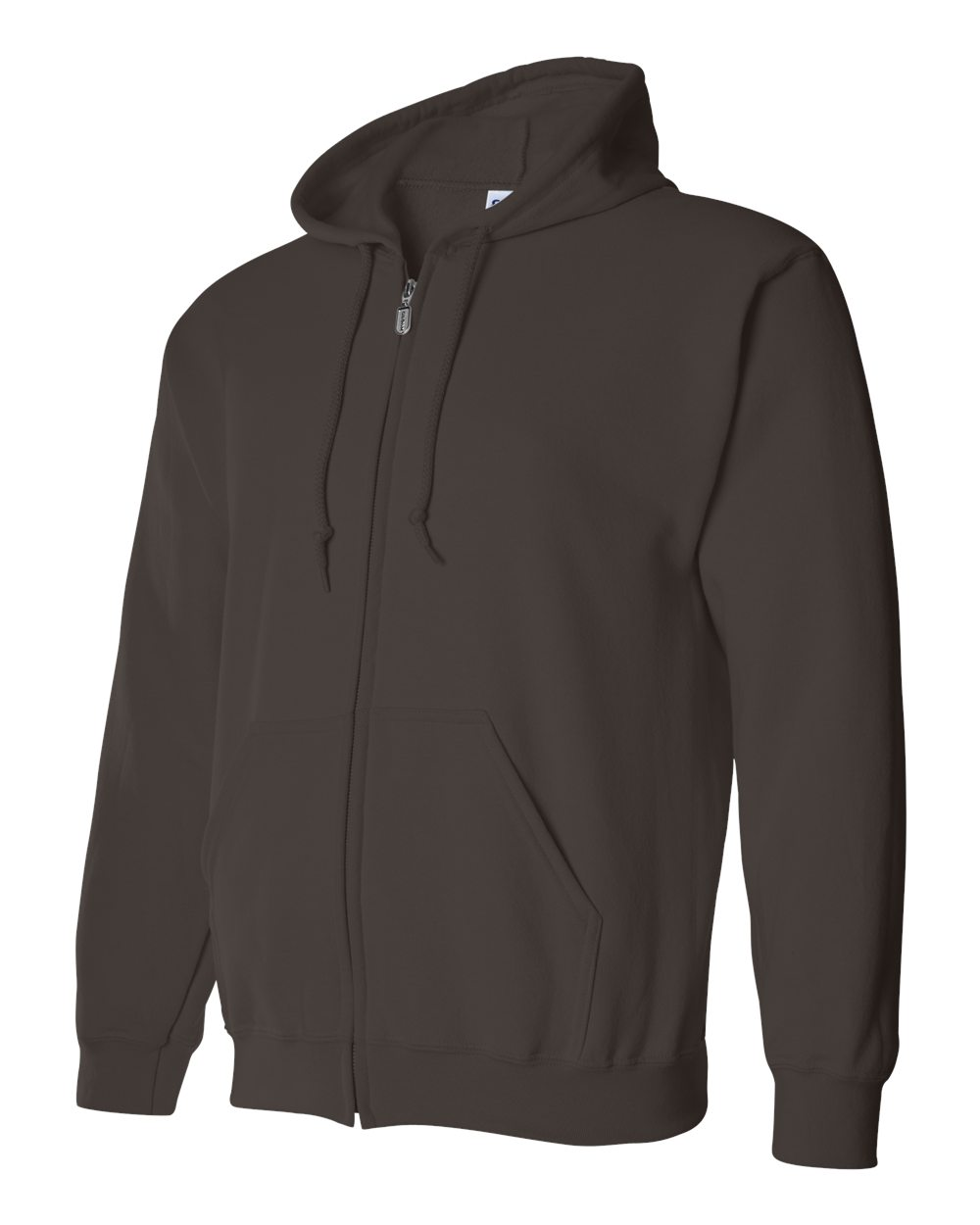 Gildan Heavy Blend Full Zip Hoodie GIL18600 Dark Chocolate