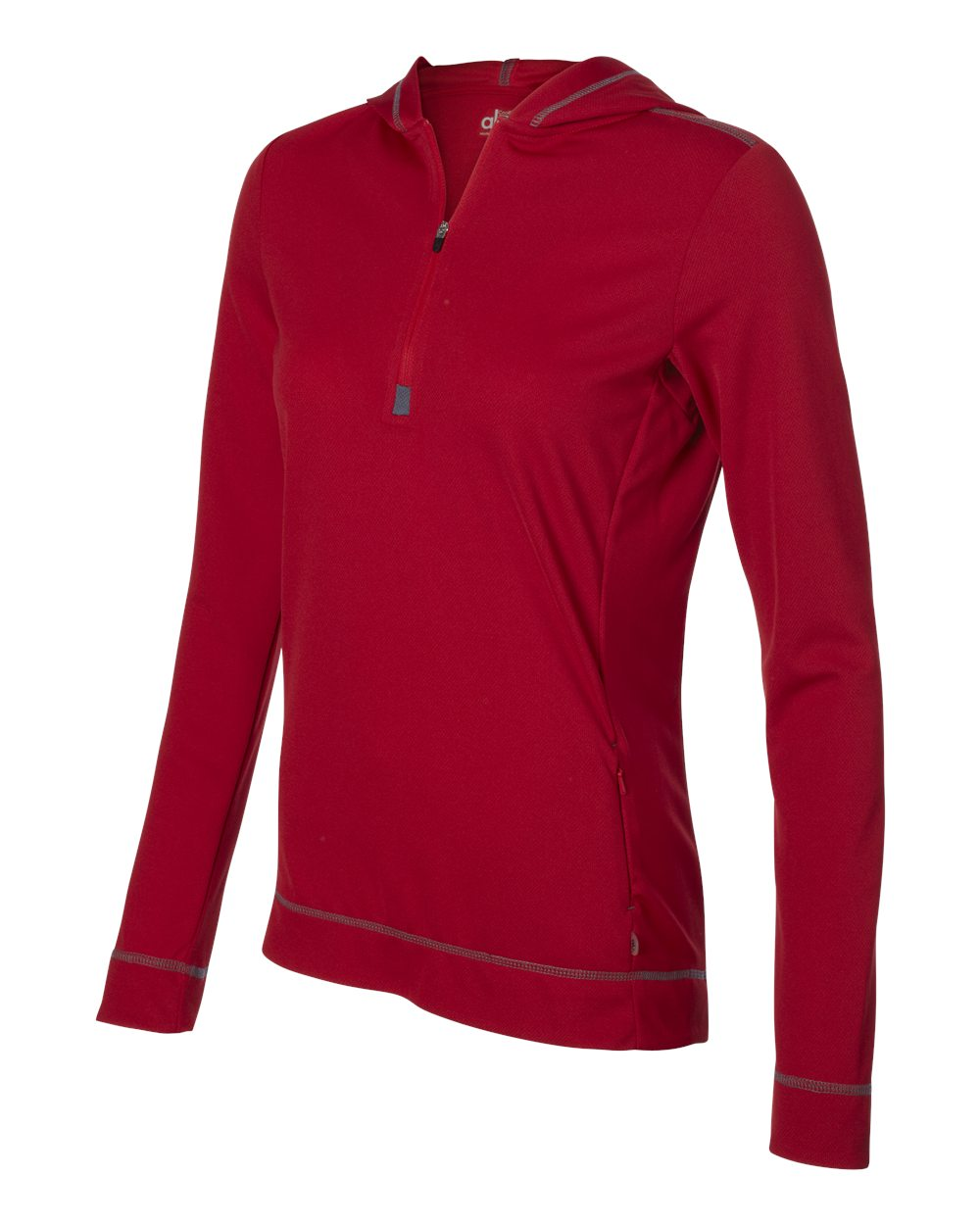 Alo Womens Performance Half Zip Hoodie W3002 Red - Slate