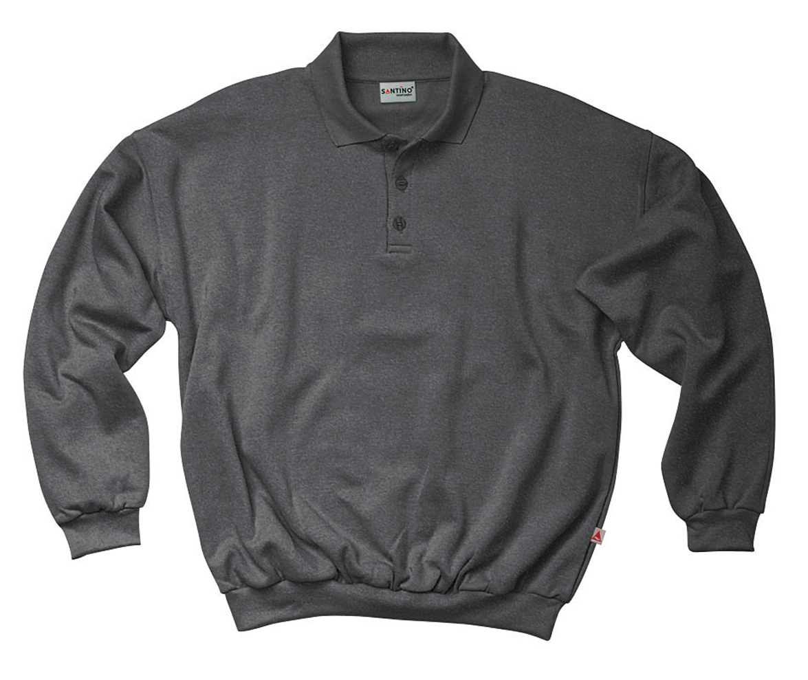 Santino Polo sweater Robin Donkergrijs Melange