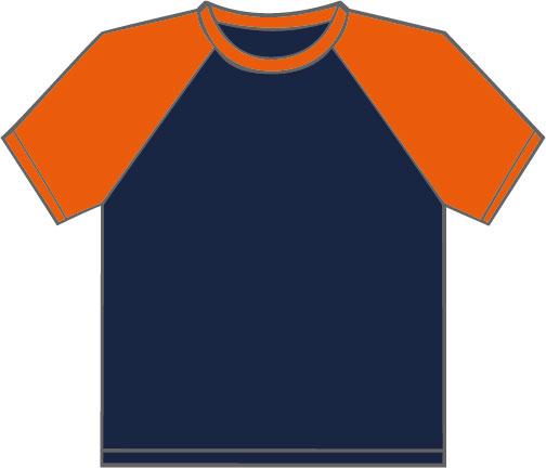 K330 Navy - Orange