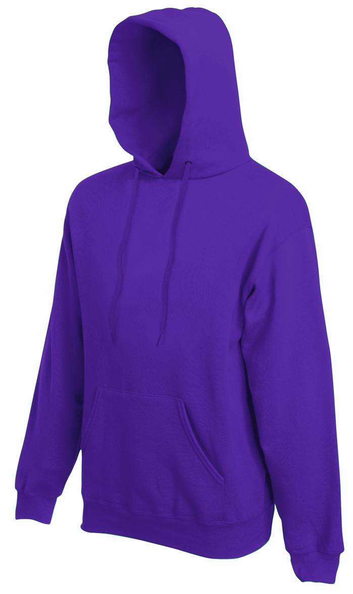Fruit of the Loom hoodie sweater Purple