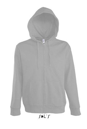 Sols Seven Men Zip Hooded Sweater Grey Melange