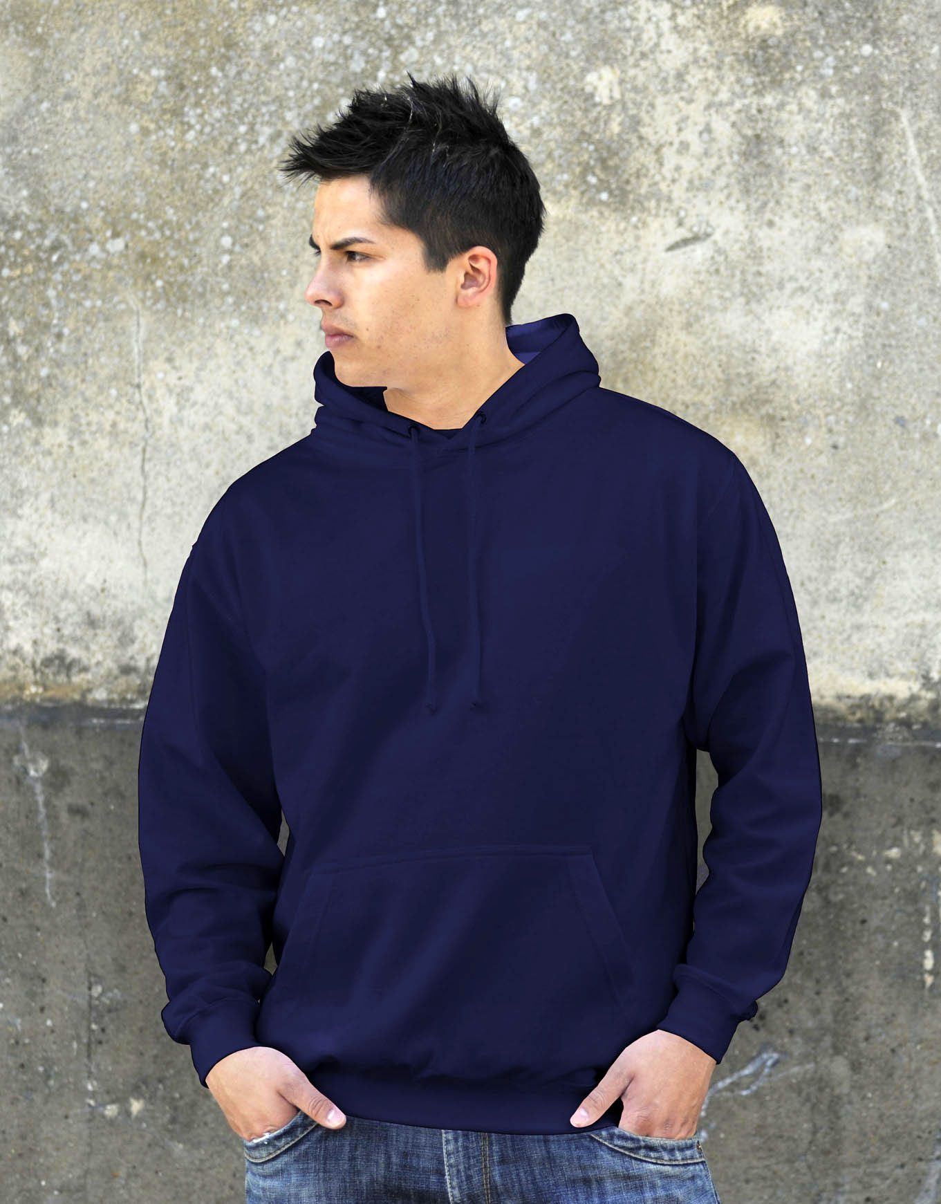 AWDis College Hoodie New French Navy