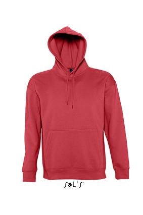 Sols Slam Unisex Hooded Sweater Red