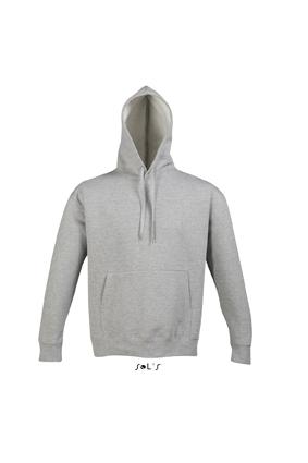 Sols Slam Unisex Hooded Sweater Grey Melange