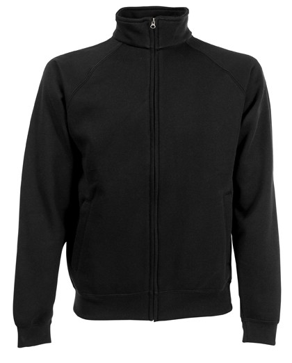 Fruit of the Loom Sweat Jacket SC62228 Black