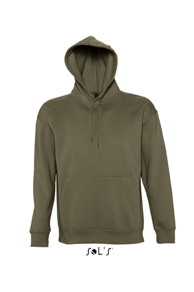 Sols Slam Unisex Hooded Sweater Army