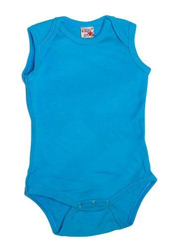 Sleeveless Romper Boys Blue