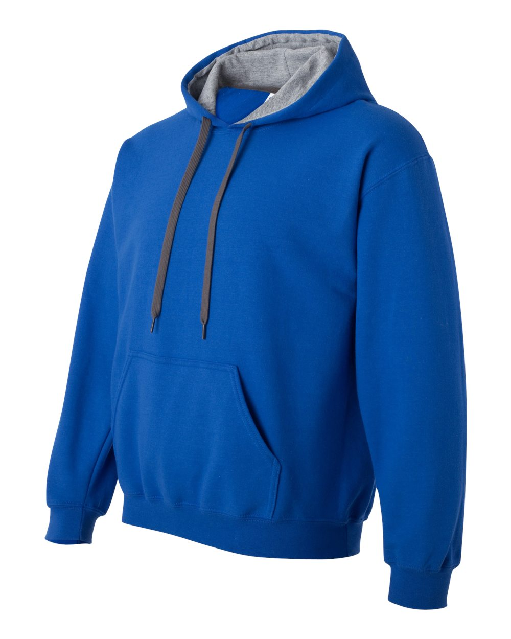 Gildan Heavy Blend Contrasted Hoodie GI185C00 Royal Blue - Sport Grey