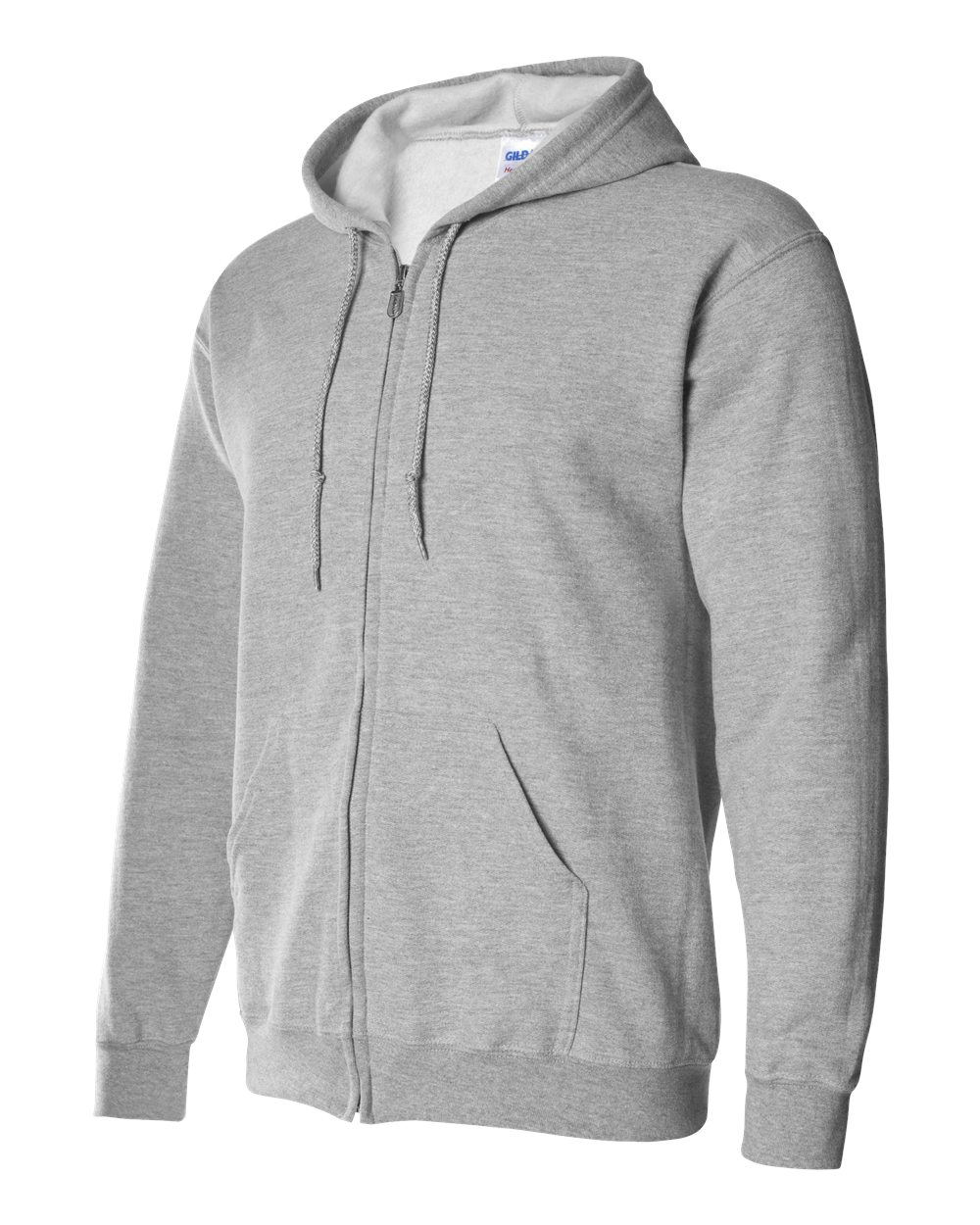 Gildan Heavy Blend Full Zip Hoodie GIL18600 Sports Grey