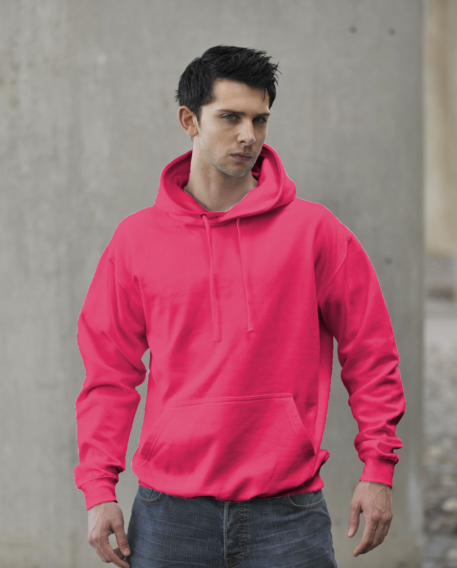 AWDis JH004 Fluor Hoodie Electric Pink
