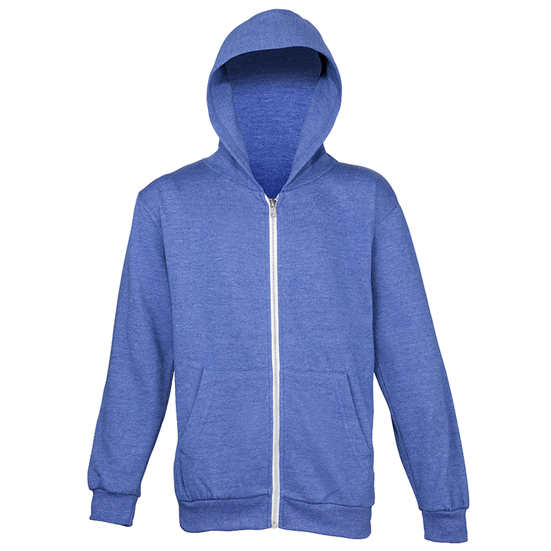 AWDis Hoods Kids heather zoodie royal blue
