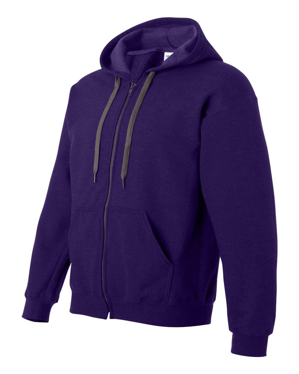 Gildan Vintage Classic Full Zip Hooded Sweatshirt GIL18700 Blackberry