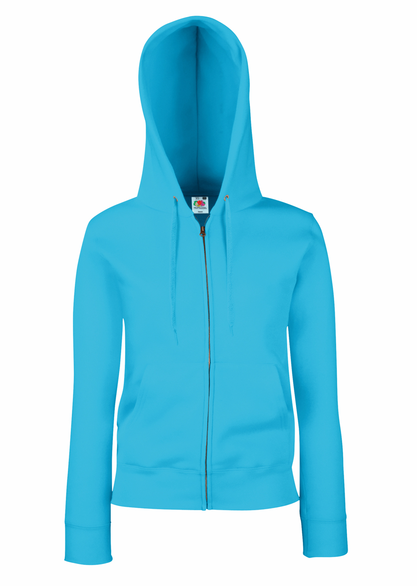 Fruit of the Loom Lady Fit Hooded Jacket 621180 Azure Blue