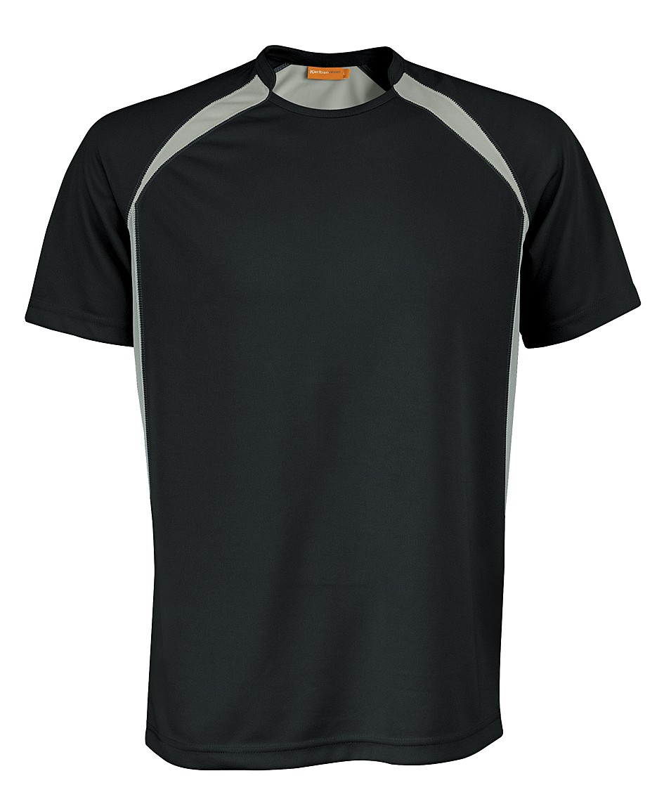 Kariban Sportshirt Breathing KS01 Black - Grey