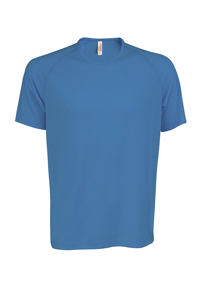 Heren Sport T-shirt KS017 Aqua Blue