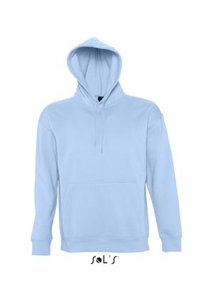 Sols Slam Unisex Hooded Sweater Sky Blue