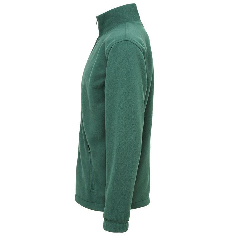 Full zip fleece vest met rits zijkant