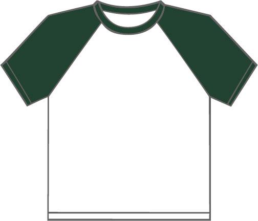 K330 White - Forest Green