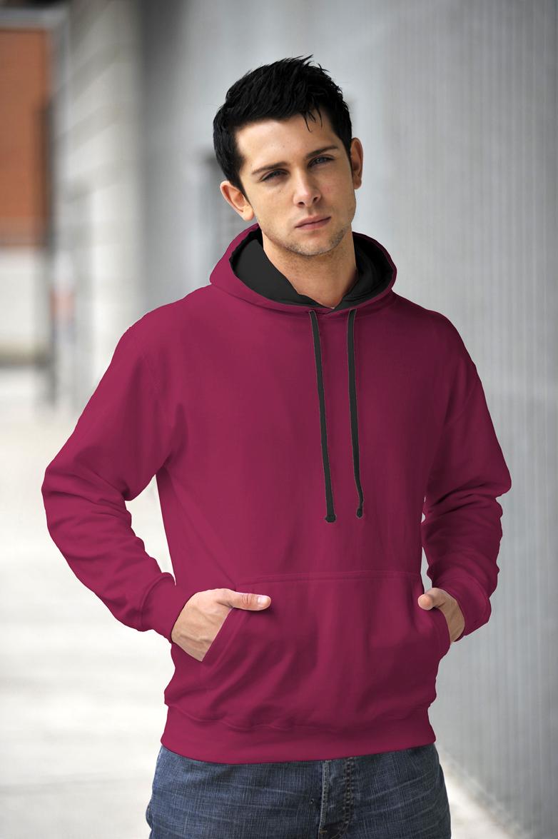 AWDis JH003 Varsity hoodie Burgundy