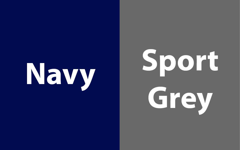 Gildan Heavy Blend Contrasted Hoodie GI185C00 Navy - Sport Grey