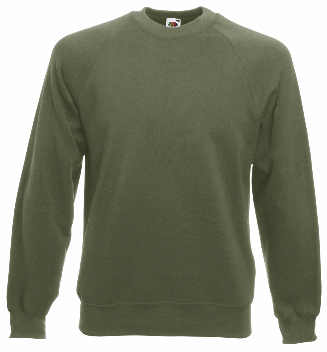 Fruit of the Loom Raglan Sweater FotL 622160 Classic Olive