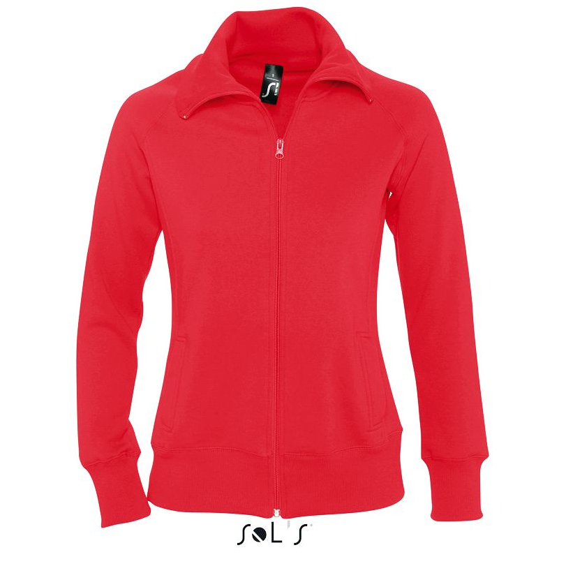 Sol's Soda Dames Zip Sweater red