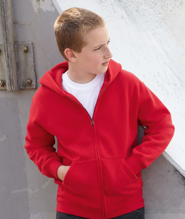 Fruit of the Loom Kids Zip Hoodie Sweater