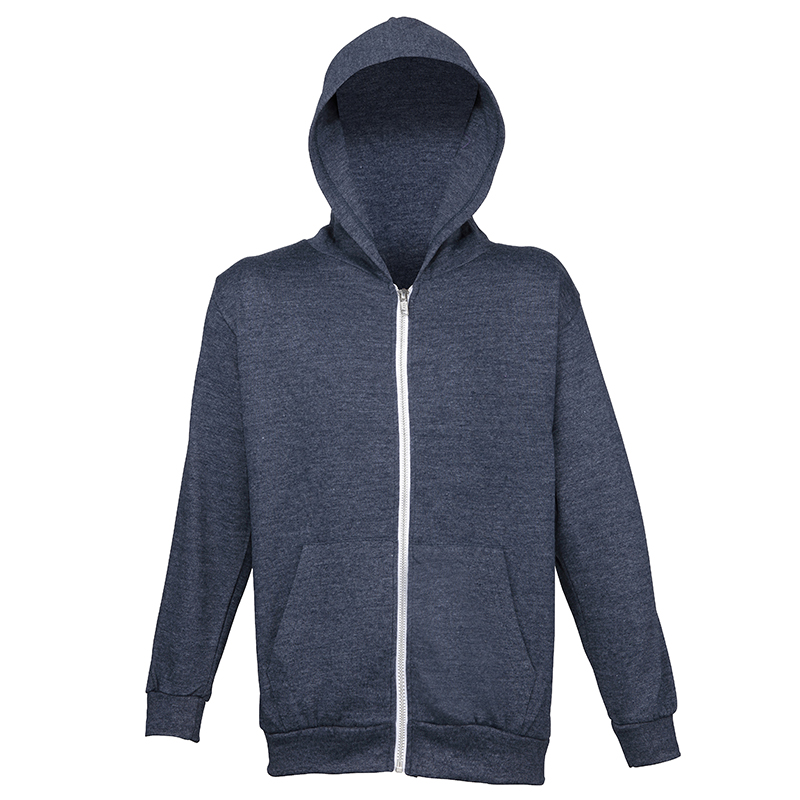AWDis Hoods Kids heather zoodie navy heather