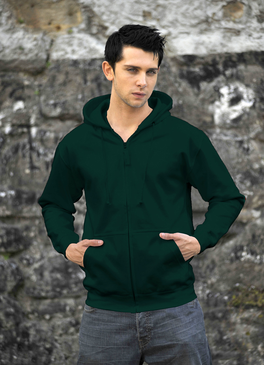 AWDis Zoodie JH050 hoodie Bottle Green
