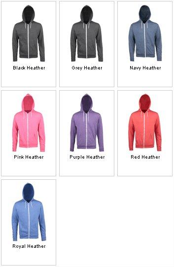 AWDis Hoods Kids heather zoodie kleuren