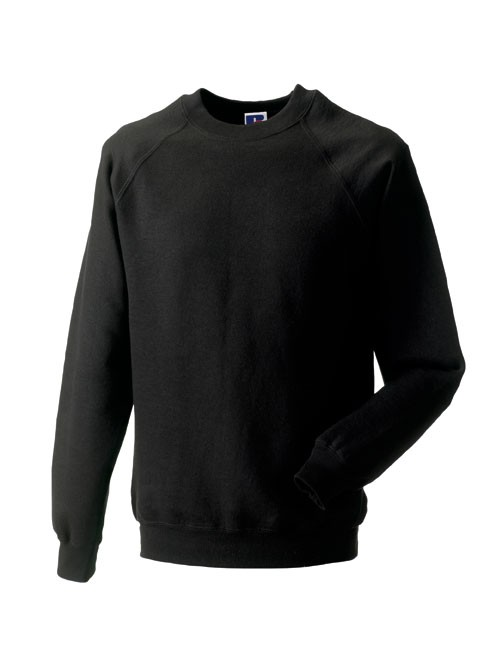 Russell Raglan Sleeve Sweater RU7620M Black