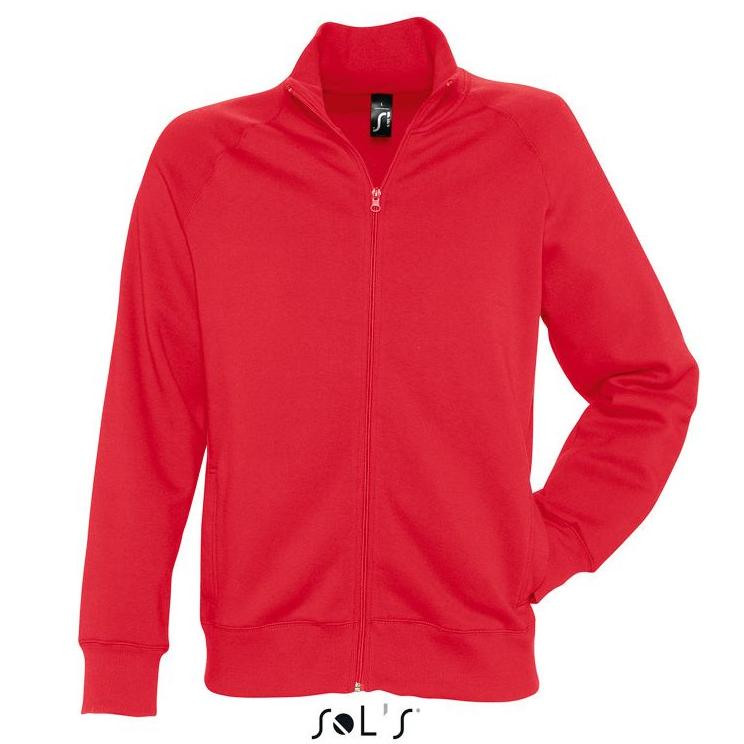 Sols Sundae Unisex Zip Sweater red