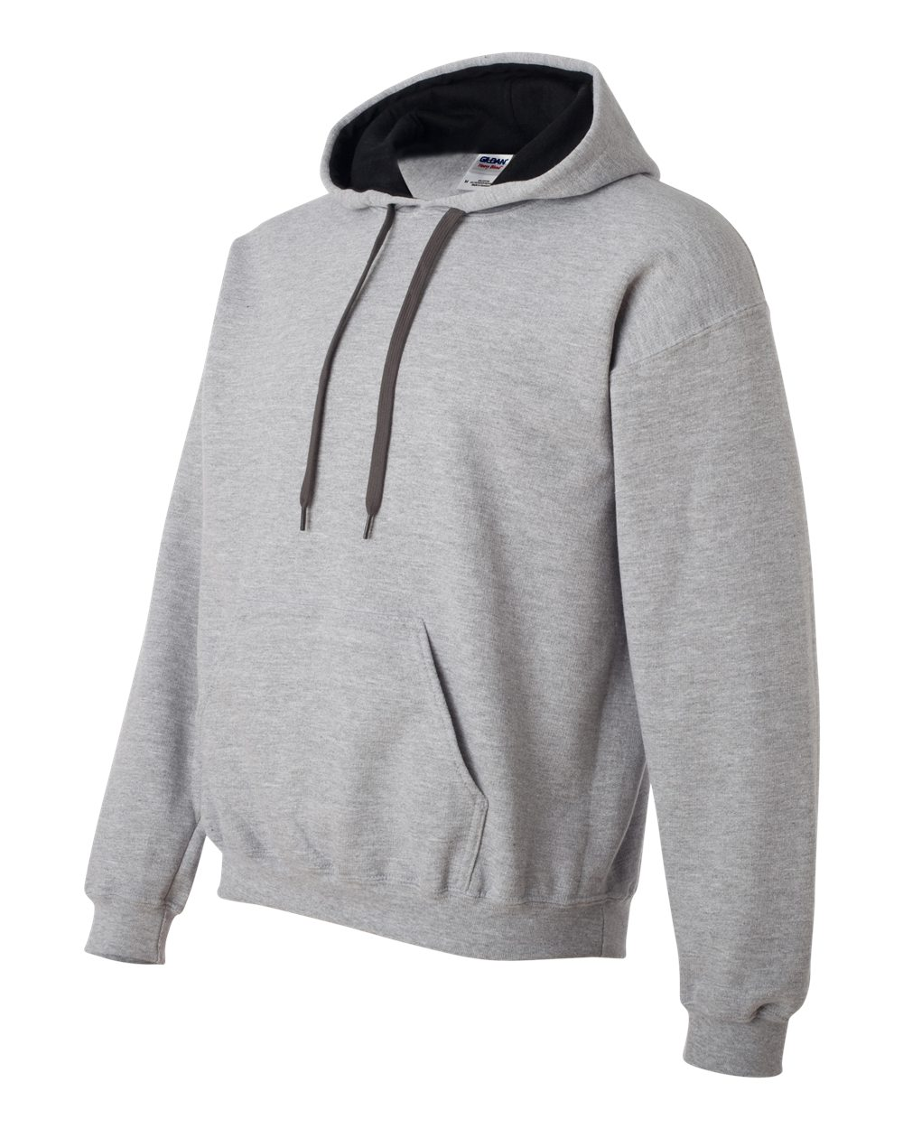 Gildan Heavy Blend Contrasted Hoodie GI185C00 Sport Grey - Black