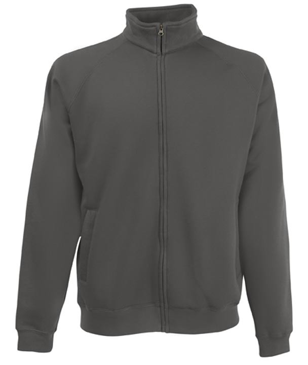 Fruit of the Loom Sweat Jacket Light Graphite
