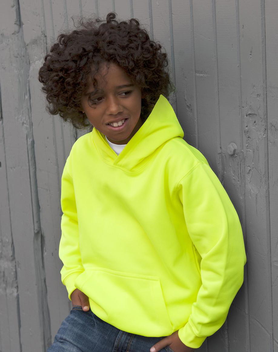 AWDis Kids Electric Hoodie JH04J Hoodie Kind Electric Yellow