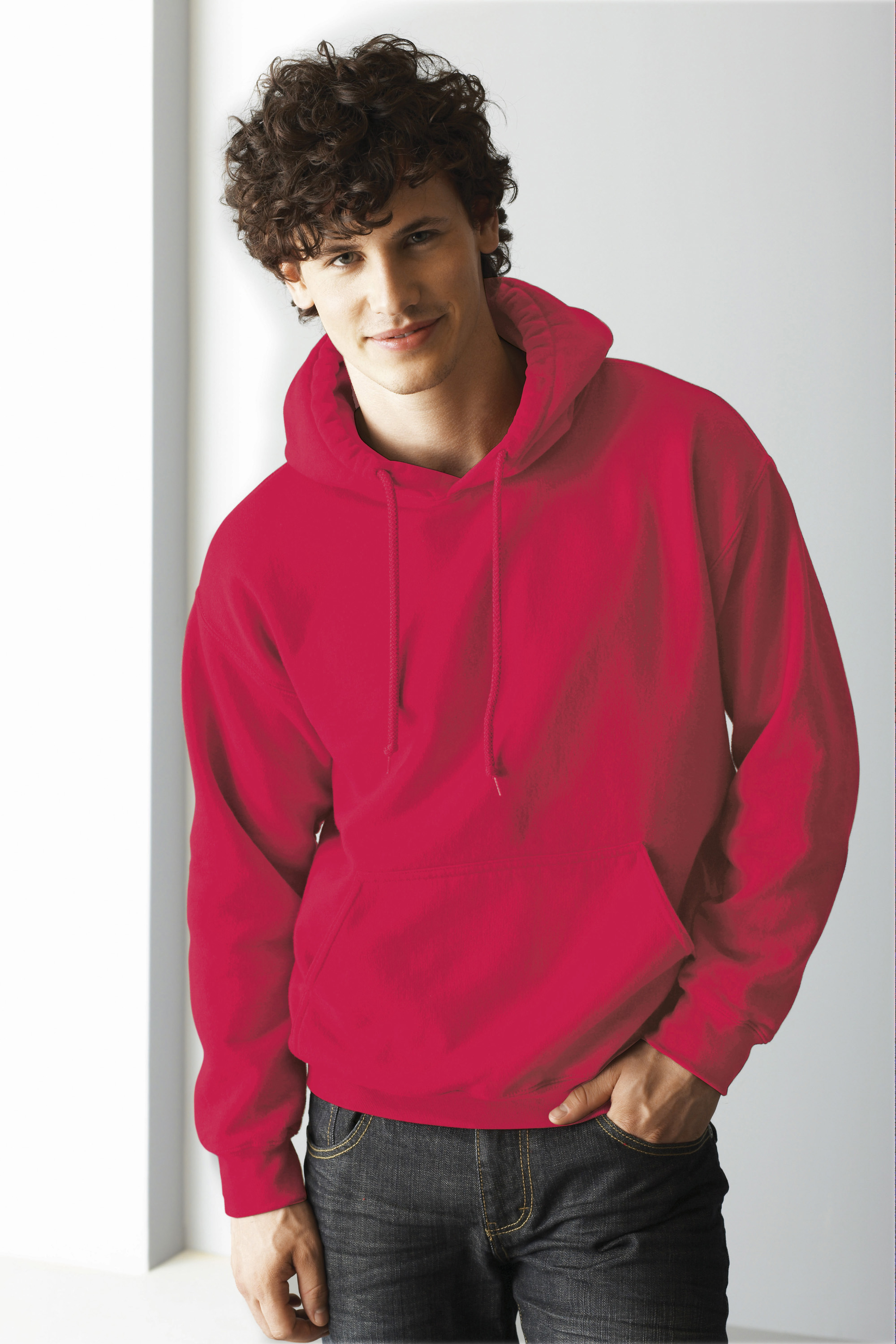 Gildan Ultra Blend Hooded sweater rood