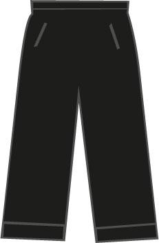 SP101 Dames Kuitbroek Black