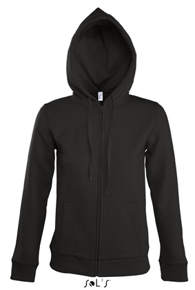 Sols Seven Women Zipped dames hoodie Black