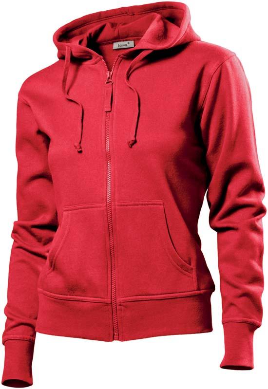 Hanes Spicy dames hoodie 6510 Red