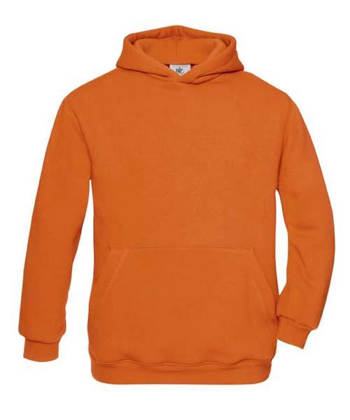 B-C Hooded Kids Sweat Pumpkin Orange
